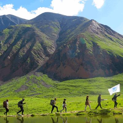 Рабочий лагерь на Юго-Байкальской велодорожке (пос.Танхой)